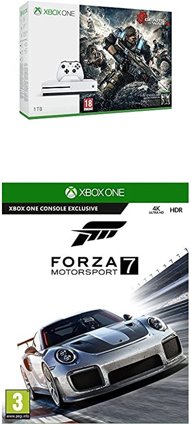 Xbox One -Pack Consola S 1 TB: Pack Gears Of War 4 + Forza ...