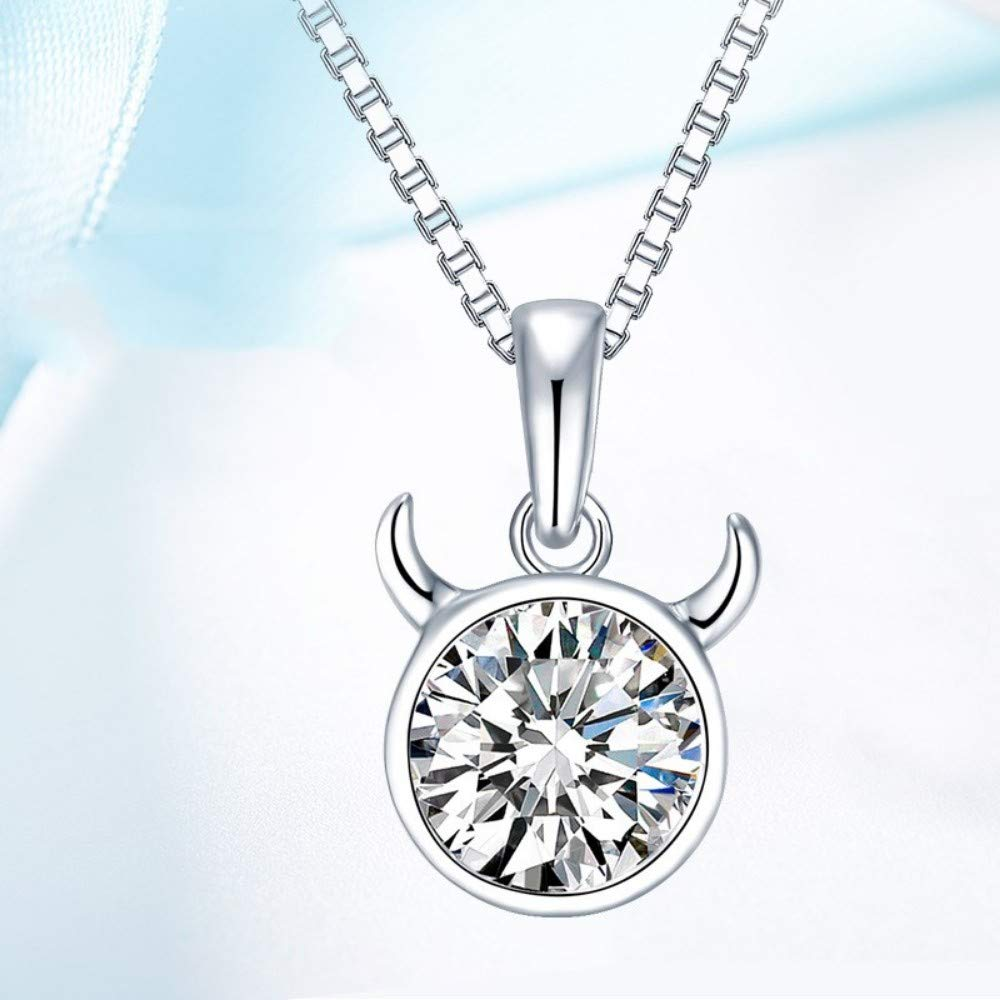大きな割引 QWERST女性ネックレススターリング星座ペンダントファッションシンプルなエレガントな絶妙なチャームネックレス最高の贈り物 B07MSHYBGQ B07MSHYBGQ, 櫛引農工連:ddb3df5d --- a0267596.xsph.ru