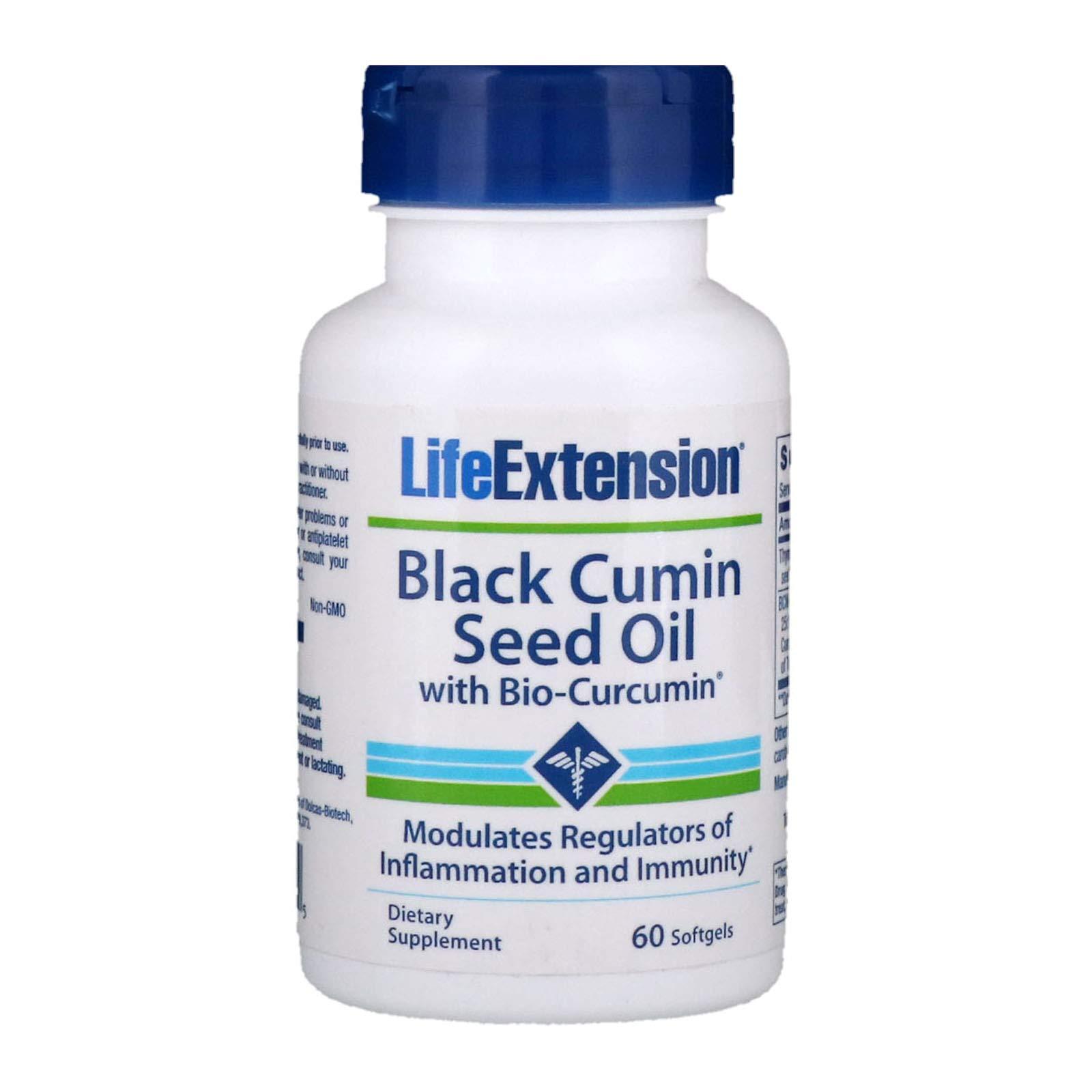 Black Cumin Seed Oil with Bio-Curcumin 60 softgels-Pack-3