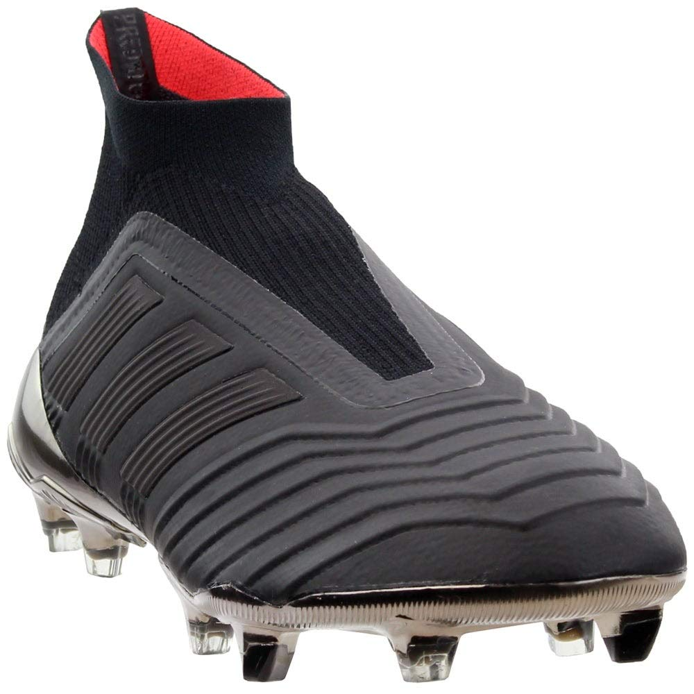 adidas Men's Predator 18+ FG Soccer Cleat, 10.5 D(M) US, Core Black/Core Black/Real Coral by adidas