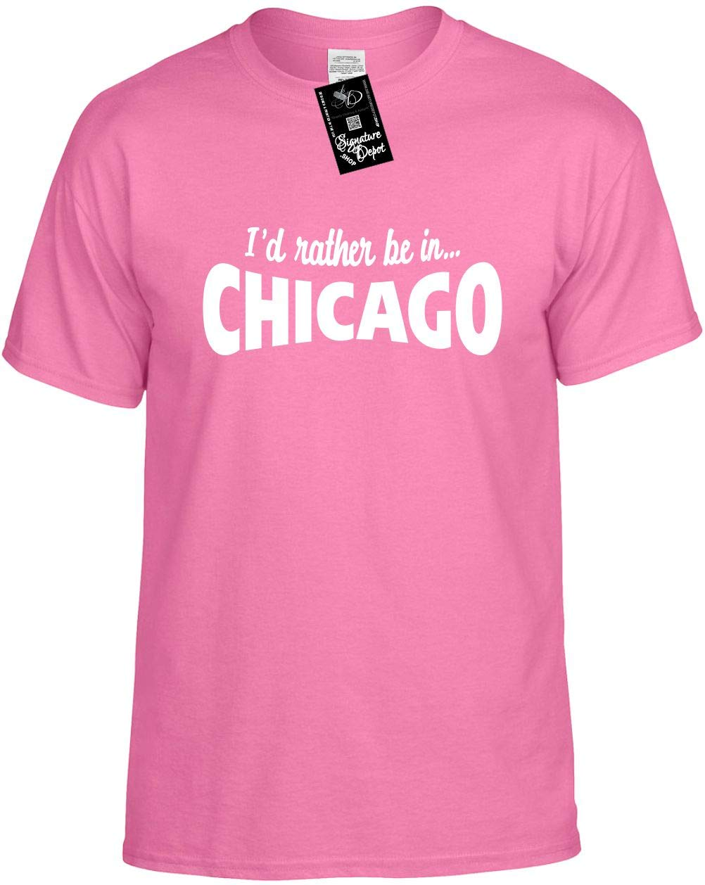 S Funny T Shirt I D Rather Be In Chicago Illinois Il Unisex Shirt 6624