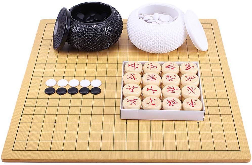 Juego de Mesa de Estrategia, Chinese Go/Chinese Chess 2 en 1 Family Puzzle Game Tamaño 18.5 * 17.3 : Amazon.es: Deportes y aire libre