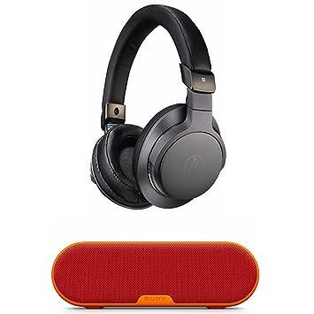 Audio-Technica ATH-SR6BTBK - Auriculares inalámbricos de Alta Resolución con Altavoz Bluetooth inalámbrico Portátil: Amazon.es: Electrónica