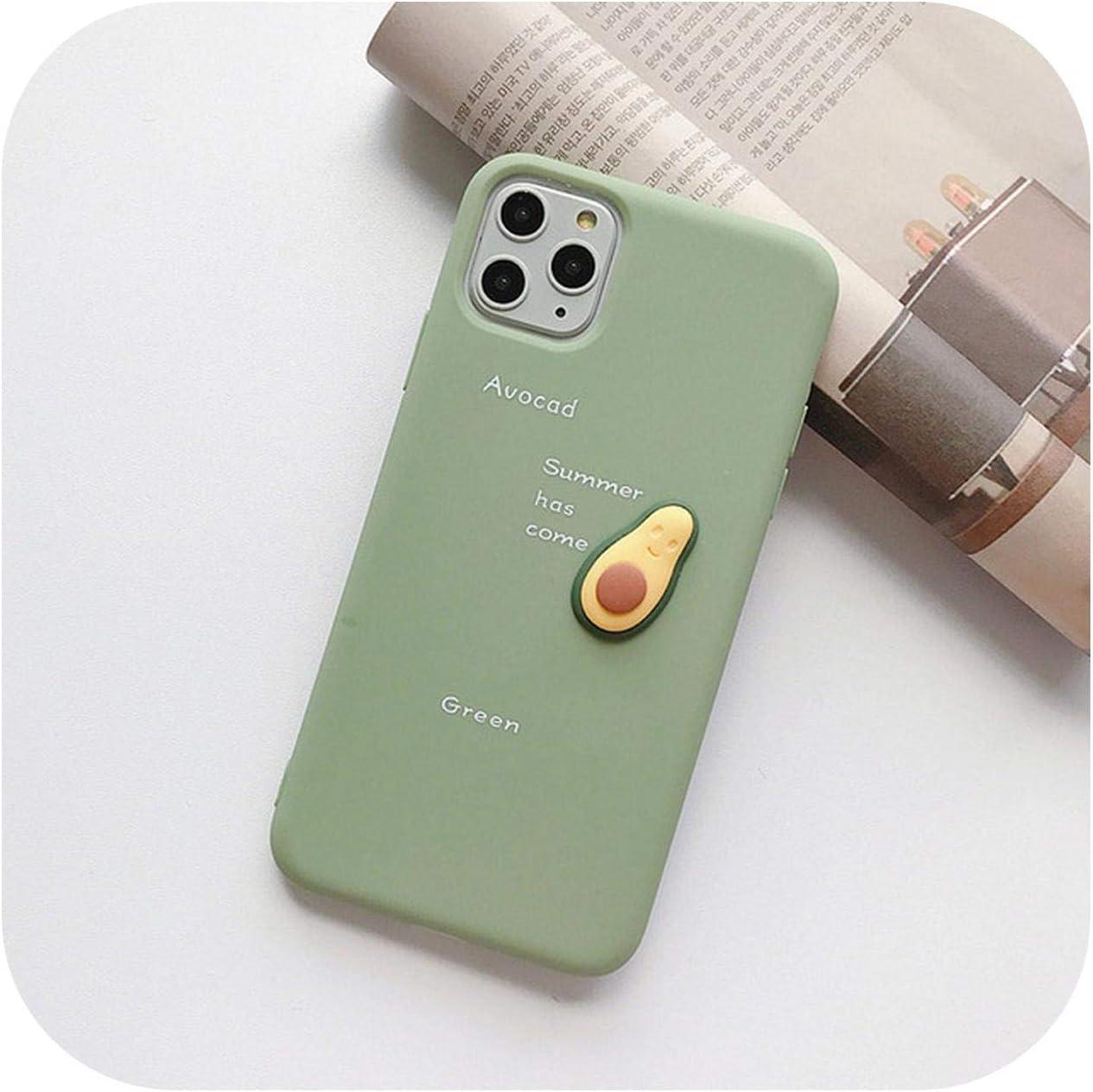 6 6S Plus 11 7 RaCarrot aguacate suave de TPU dise/ño de frutas Carcasa para iPhone 11 Pro XS Max XR X 8