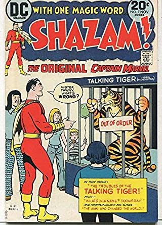 Amazon.com: Shazam #7 VF Troubles Of The Talking Tiger DC Comics CBX2A: Entertainment Collectibles
