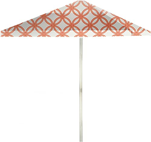 Best of Times 1020W2107-OW Eternity Circles 8 ft Tall Square Market Umbrella