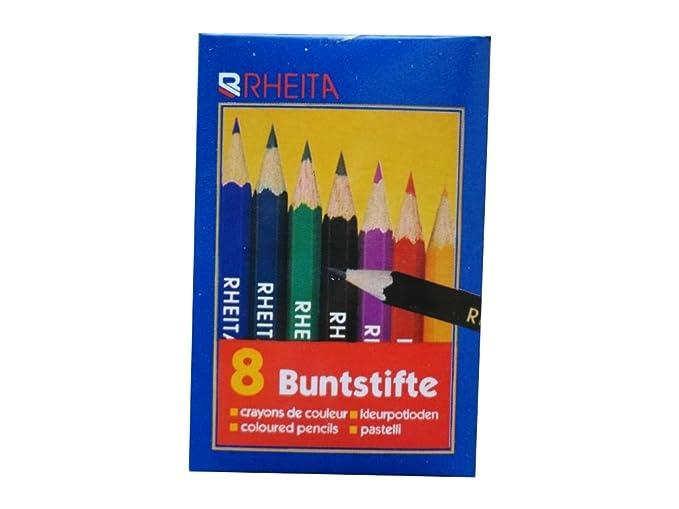 Mini Dreikant Buntstifte Malstift Farbstift 9cm lang 5x 8 40