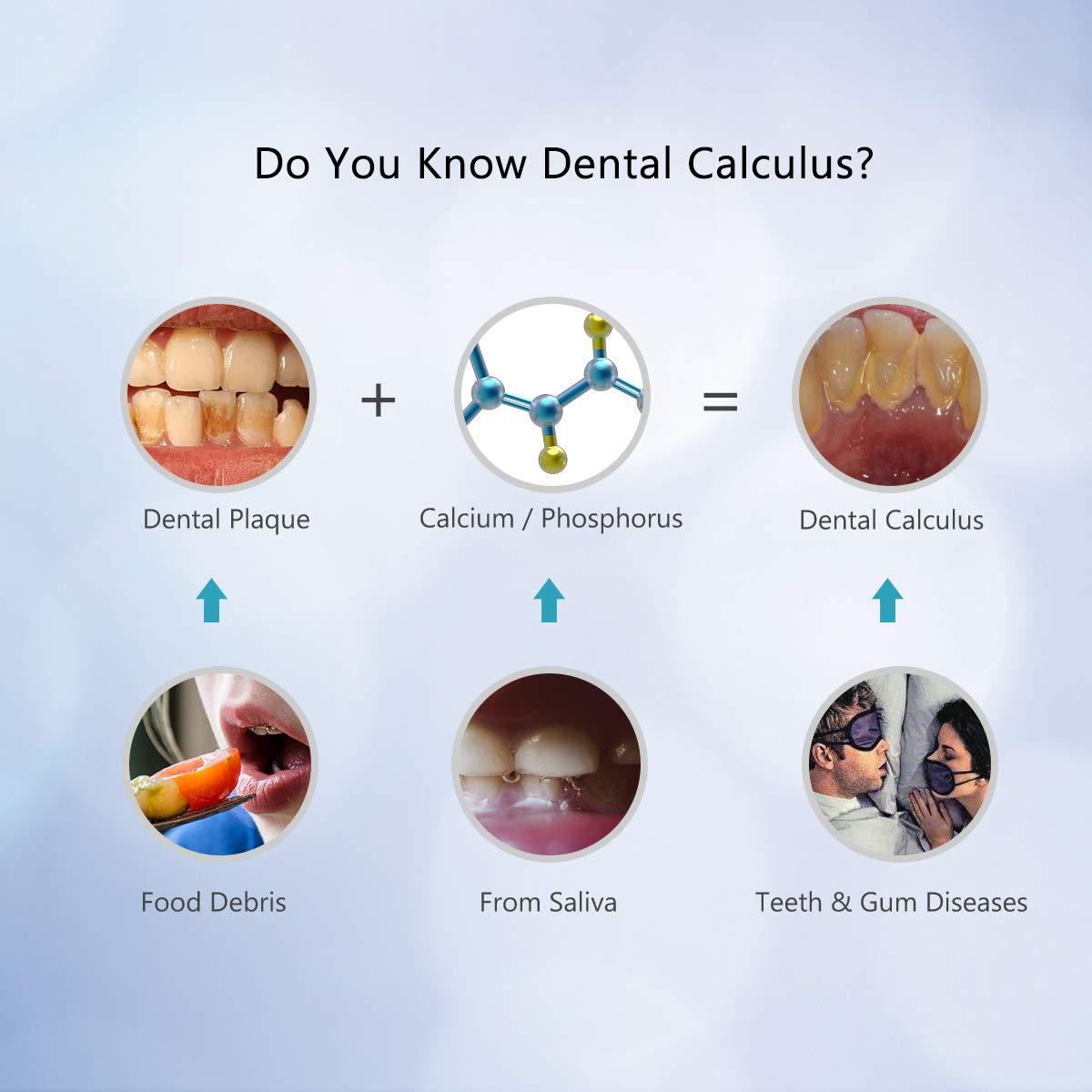 Sarro Dental, iFanze Mancha Dientes Eliminación, Sarro Dental Electrico, Eliminar Placa Dental, Cálculo Dientes, Manchas Café y Té, Manchas Tabaco, ...