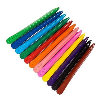 yeahibaby lápices no tóxico lavable, los mejores: lápices para niños, 12 colores diferentes