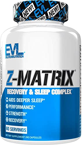 Evlution Nutrition Z Matrix Nighttime Recovery and Sleep Support 60 Servings