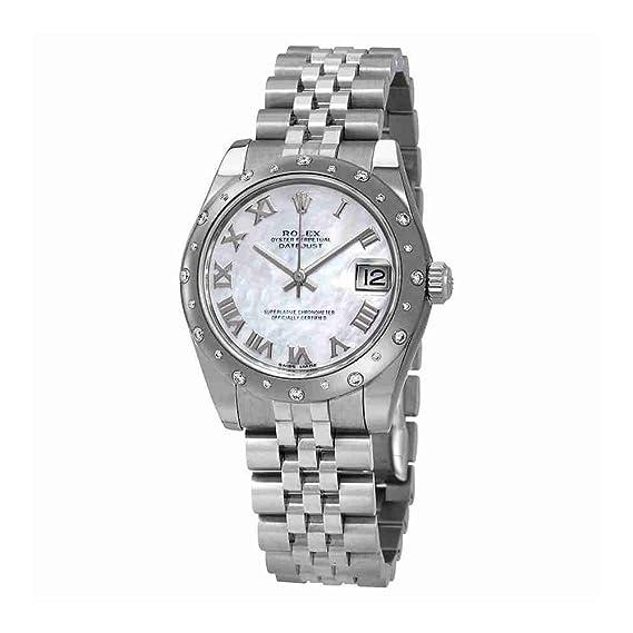 Reloj de pulsera automático Rolex Datejust 178344MRJ de acero y ...