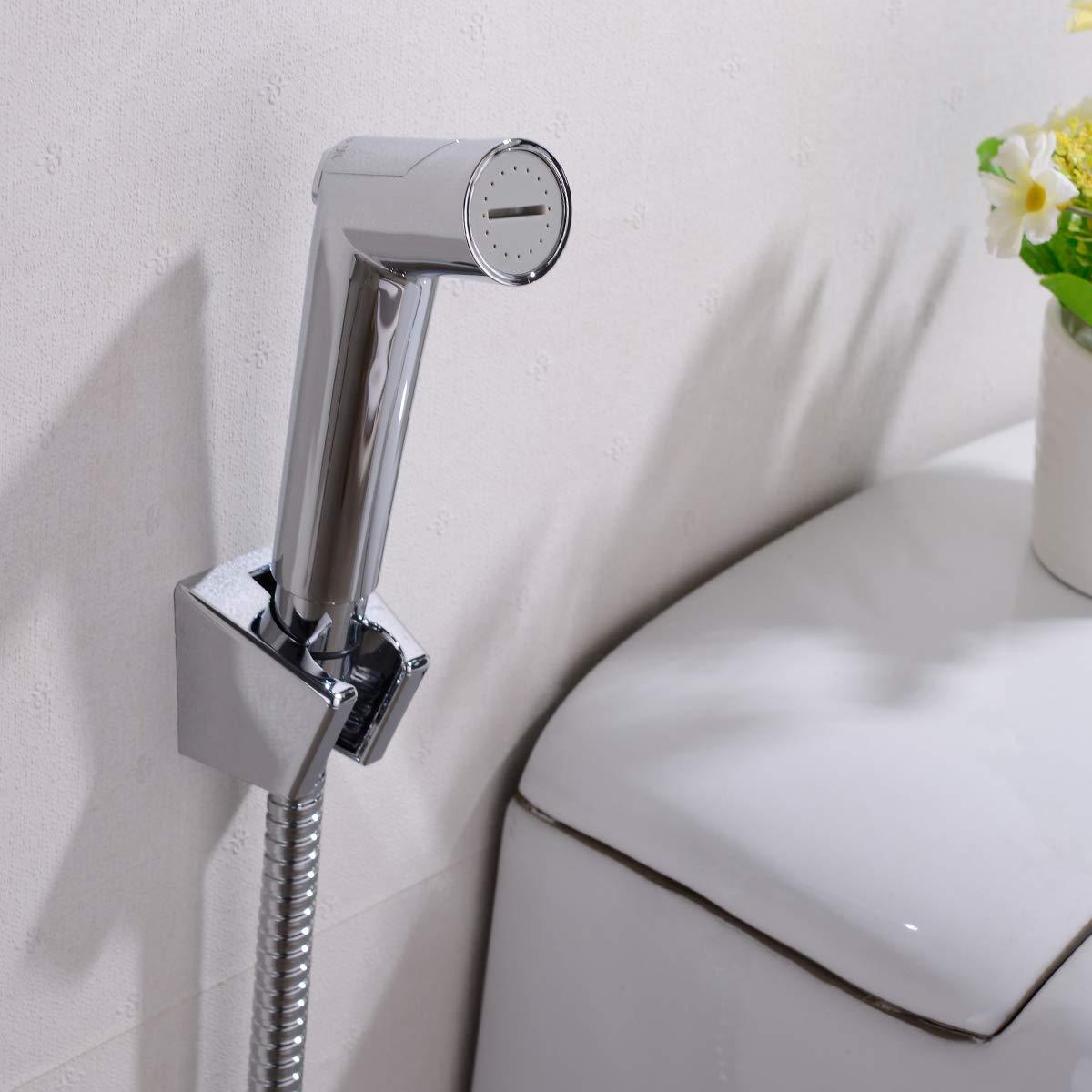 cromo lucidato TRUSTMI spruzzatore del bidet del bagno per WC rubinetto di doccia musulmano tenuto in mano