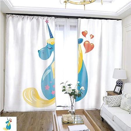 Cortina a la moda color Vector tarjeta para hija madre s día W72 x L72 puerta corredera aislamiento super ancho cortina de alta precisión cortinas para dormitorios, salones, cocinas, etc.: Amazon.es: Hogar