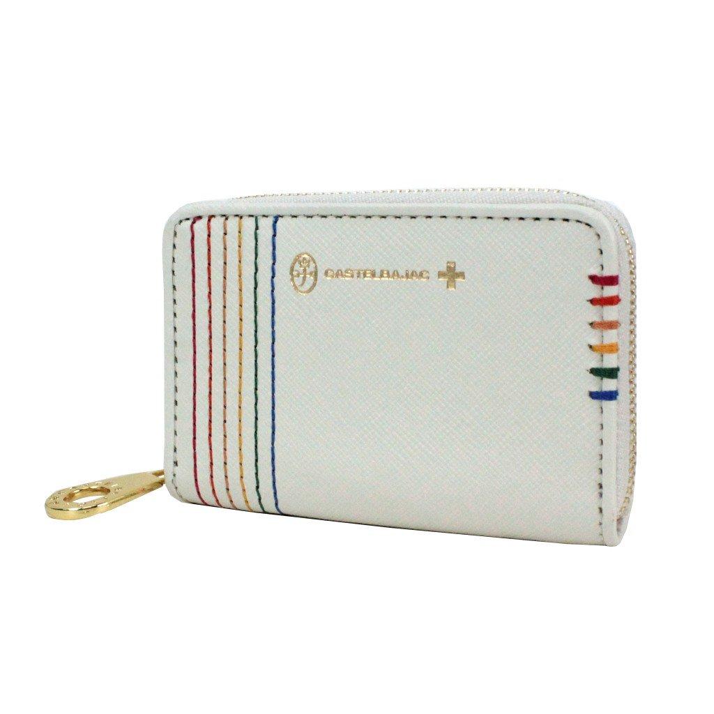 [カステルバジャック] CASTELBAJAC 小銭入れパスキーチェーン付き/シェスト/027601 B01F1UO5TK ホワイト ホワイト