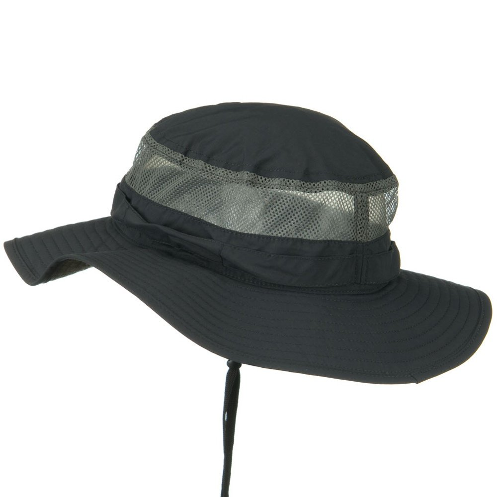 d11690bf0fa Juniper UV 50+ Side Mesh Talson Bucket Hat - Charcoal at Amazon Men s  Clothing store  Sun Hats