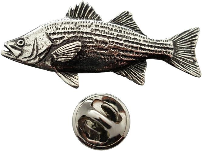 Hybrid Striper Pin ~ Hand Painted ~ Lapel Pin ~ Sarahs Treats /& Treasures