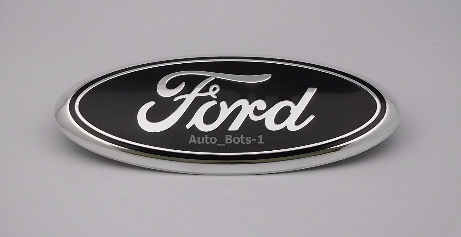 FORD F-150 2004-2014 BLACK OVAL FRONT GRILLE GRILL 9 INCH LOGO 4L3Z-1542528-AB JDM WORLD