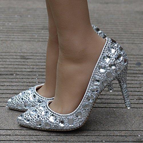 Strass Dîner Chaussures Avec En Taille Hh De Talons Grande Des Robe Une Mariage Pointues Bien Cristal 8qTnfTwp