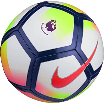 Nike Pitch Premier League Football 2017/2018, Multicolor(White/Crimson/Deep