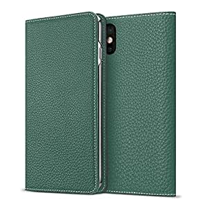 [WINTER SALE 30%OFF] BONAVENTURA iPhone 7 / 8 Leather Flip Wallet Case (Full-Grain Perlinger Leather from Germany) [iPhone 7 / 8 | MALACHITE GREEN]