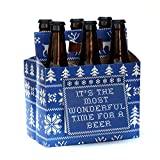 Beer Greetings - Holiday Sweater - Six Pack Greeting Card Box (Set of 4 Card Boxes in Holiday Sweater Design)