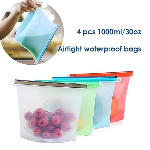Reutilizables bolsas de almacenamiento de alimentos - Zip ...