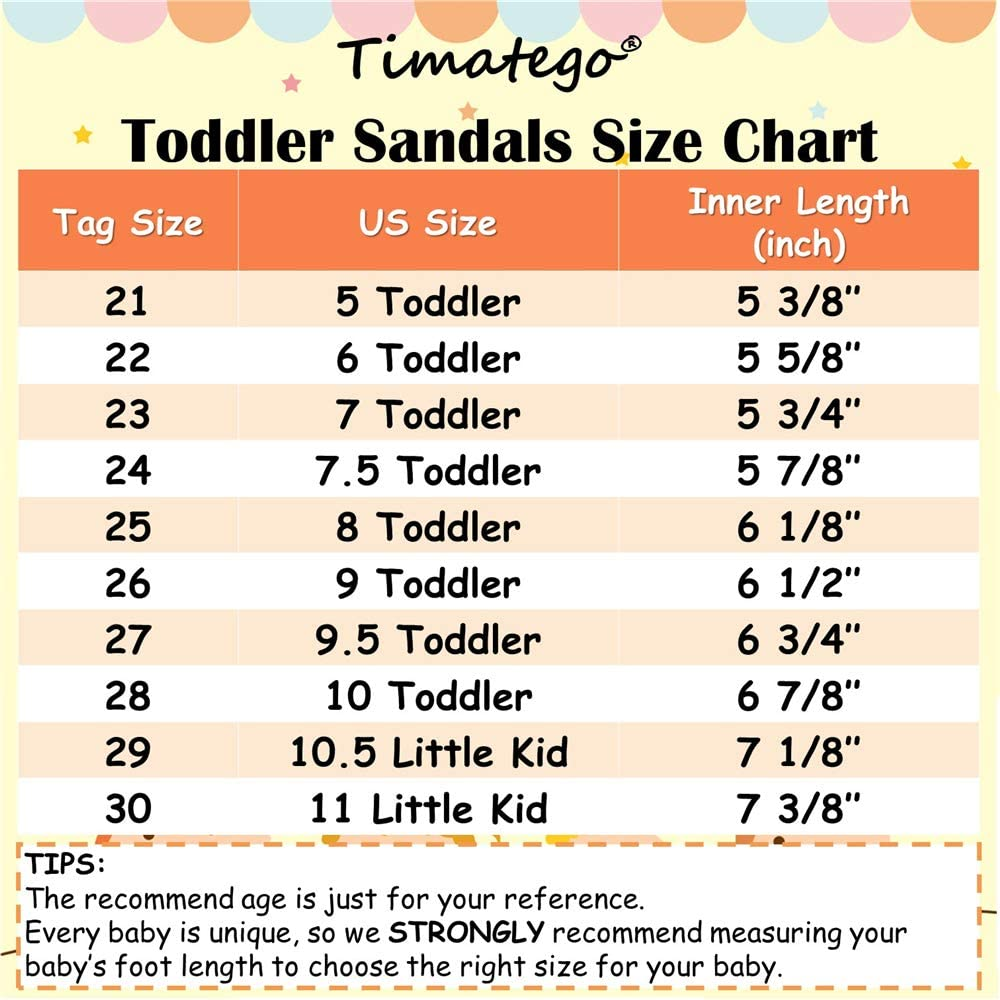 Toddler//Little Kid TIMATEGO Baby Toddler Girls Sandals Open Toe T-Strap Infant Princess Dress Flat Shoes Outdoor Summer Sandals for Girls