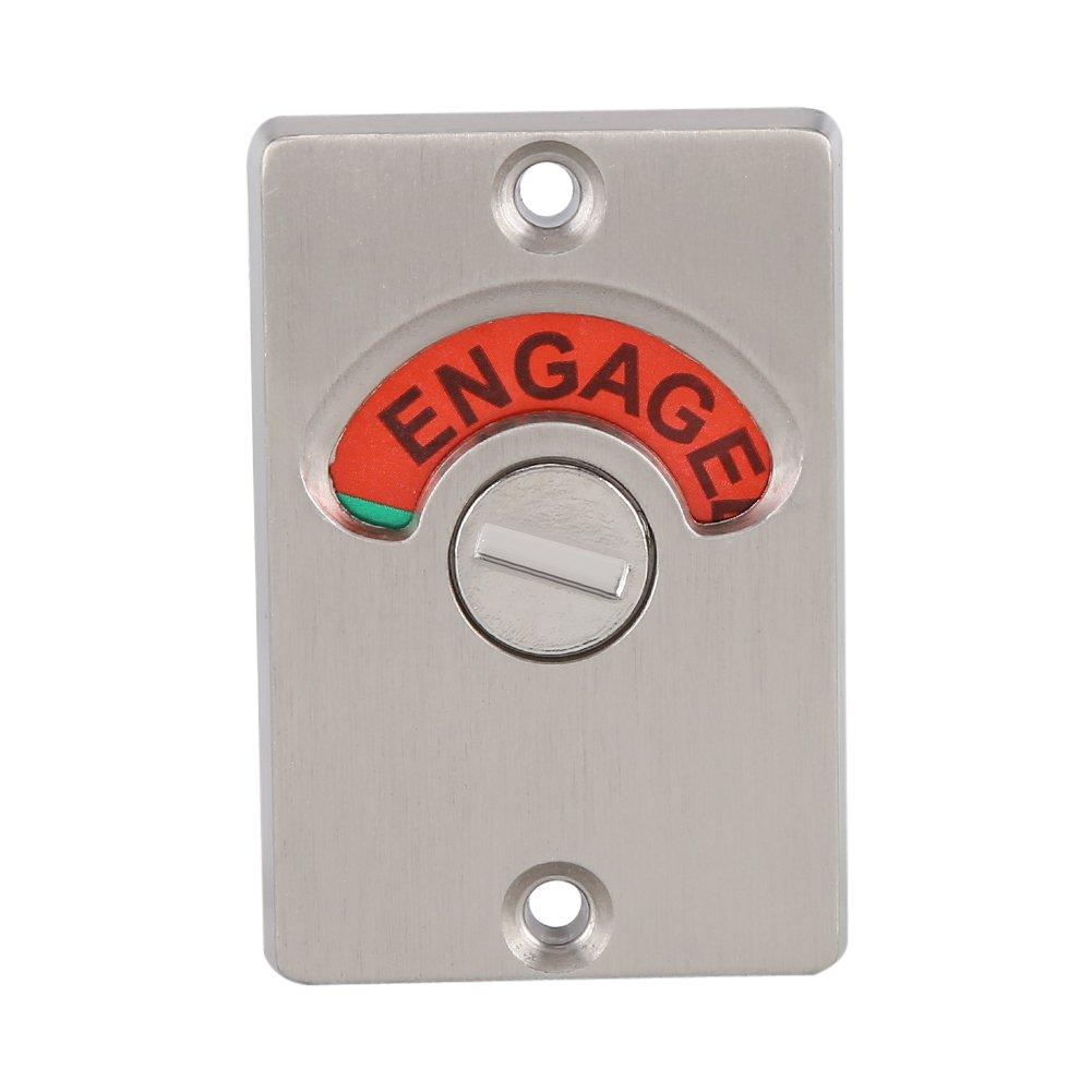 mango de puerta de acero inoxidable con ranura para mostrar indicador de cierre de puerta WC indicador de pestillo Privacy Lock /& palanca con en de Use o libre de indicador Toilet Lock Indicator