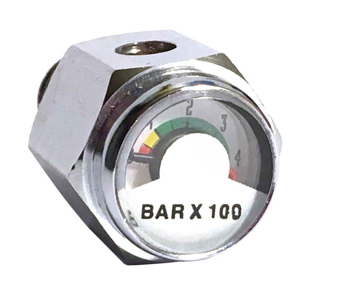 Aeris Metric Pony Bottle Pressure Gauge BAR Pressure Indicator