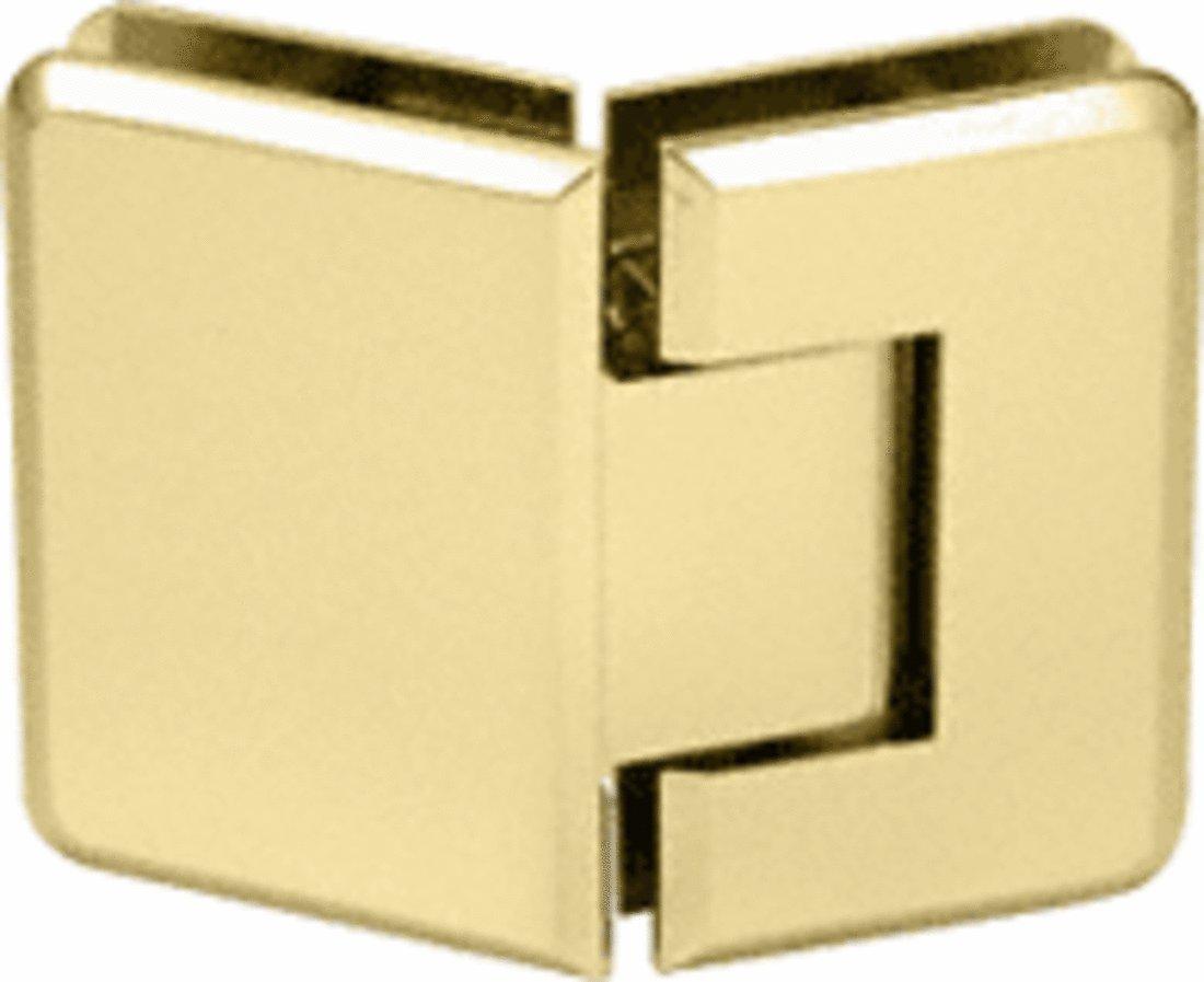 CRL Pinnacle 345 Series Brass Adjustable 135° Glass-to-Glass Hinge