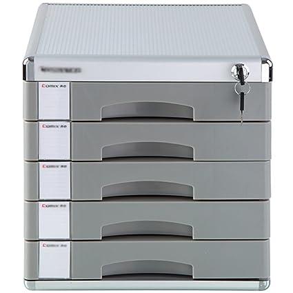 Wanli666 Aluminum Alloy Storage Drawers Desk Storage Unit Organizer  Lockable File Cabinet A4 Box For Office