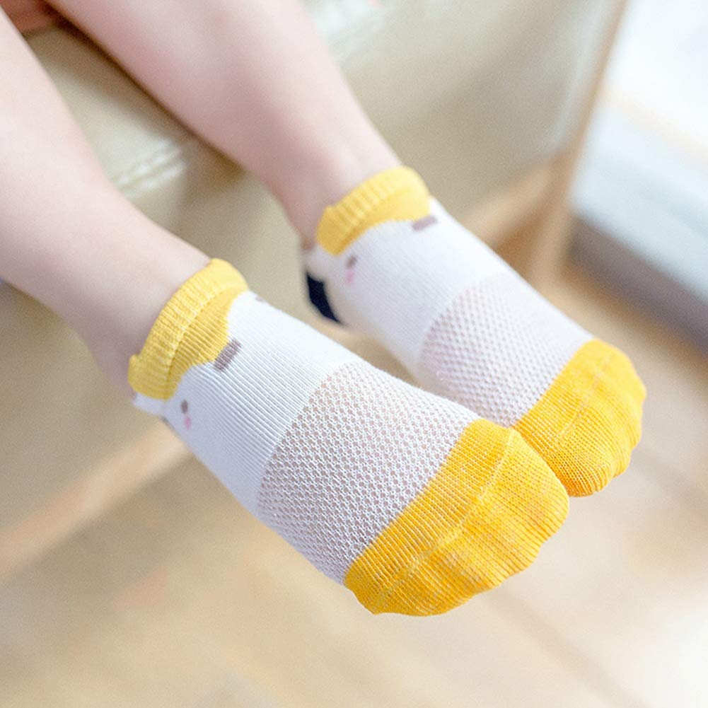 5 Pairs Toddler Infant Baby Girls Cute Cartoon Mesh Breathable Thin No-show Socks