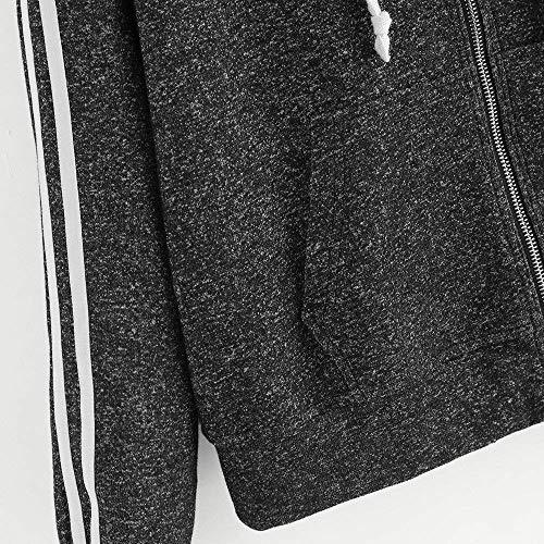 Mujeres Chaqueta Mujer Manga Eu l Tamaño Zhrui color cn Casual Tops Blusa Larga Para Con De Invierno Otoño Abrigos Cálido Parka Suelto Capucha 40 Negro Escudo Pullover Abrigo Outwear 7tqw8q