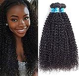 MORICA Curly Weave Human Hair Bundles Brazilian Kinky Curly Virgin Hair weave 3 Bundles Unprocessed Human Hair Extensions (18 20 22, Natural Color) Review