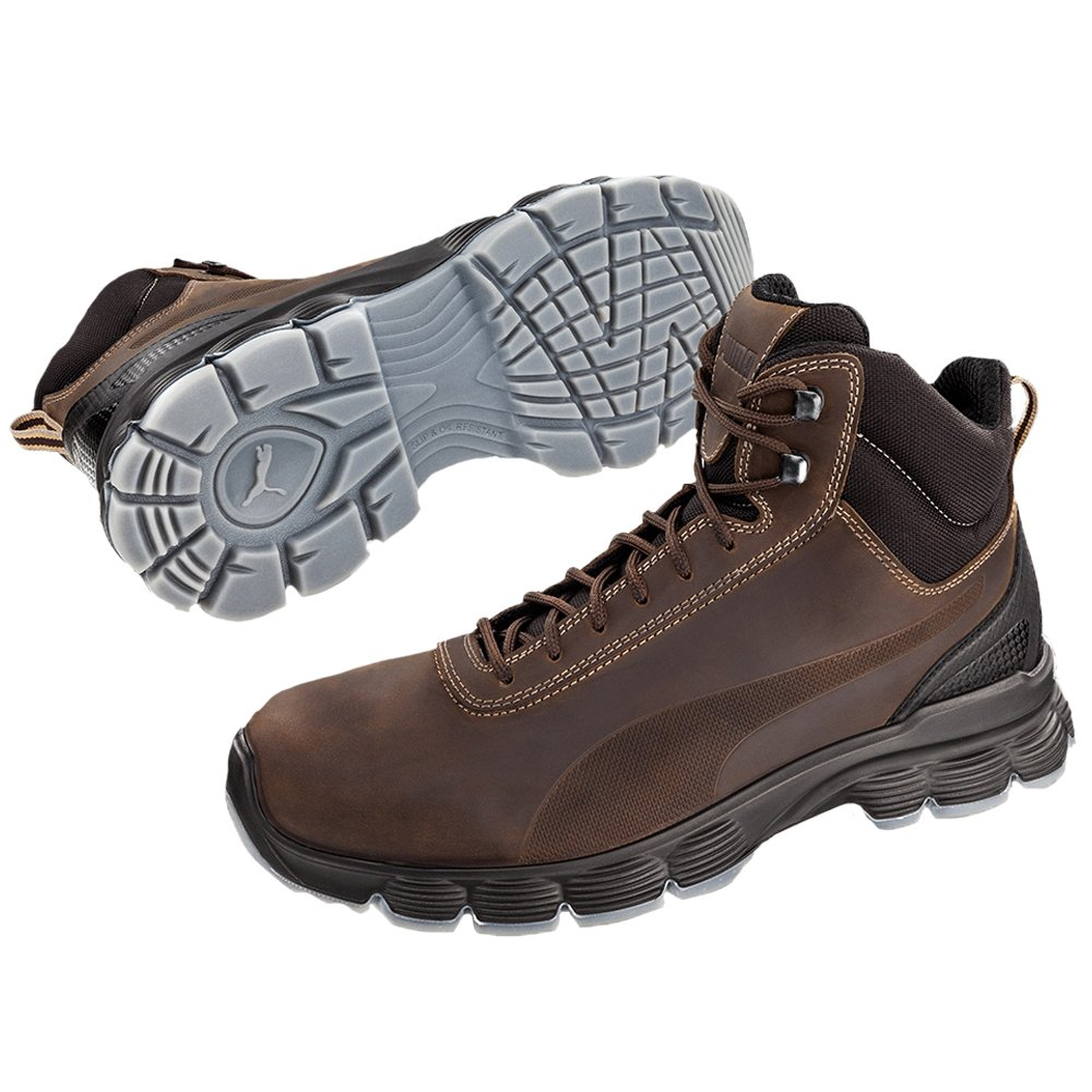 Brown Puma 630122.44 Condor Mid ESD S3 SRC Safety Footwear Size 44