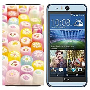 - Sugar Sweets Sweet Candy - - Cubierta del caso de impacto con el patr??n Art Designs FOR HTC Desire EYE M910x Queen Pattern
