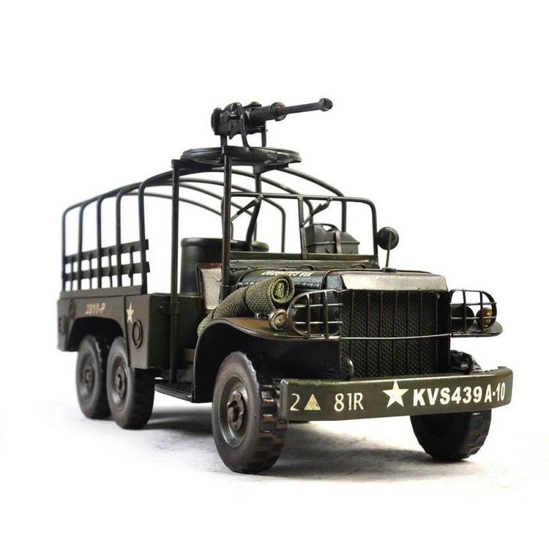 GL&G manual Retro Iron art military vehicle Home Decorations Creative Wedding Gifts Crafts bar Cafe Tabletop Scenes military Collectible Vehicles Ornaments Keepsakes,371419cm