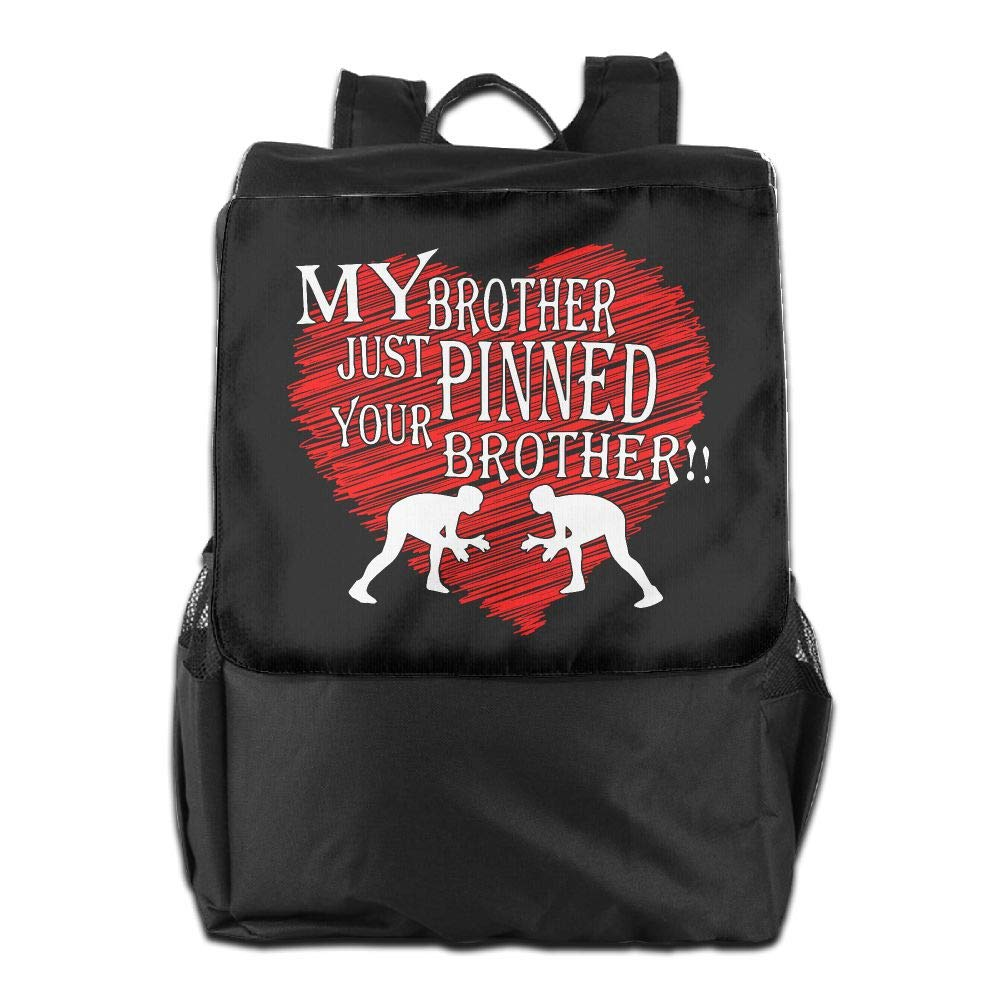 Louise Morrison My Brother Just Pinned Your Brother Wrestling Women Men Laptop Travel Backpack College School Bookbag