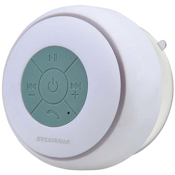 Amazon.com: Sylvania sp230-white Bluetooth ventosa altavoz ...