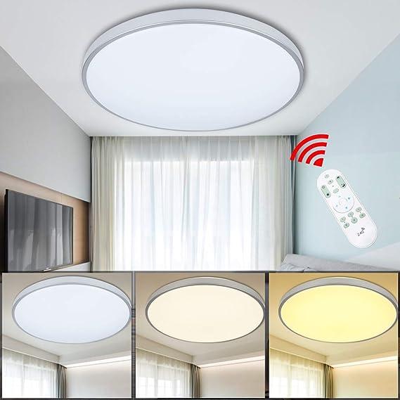VINGO® 50W LED Deckenleuchte Stufenlos Dimmbar Wohnzimmerlampe ...