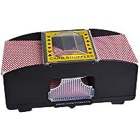 MORE11 Maquina de barajar, 2 mazas, Funciona con Pilas, Casino, Robot, Puente, Tarjeta de póquer, máquina de barajado de Entretenimiento, Accesorios de Juego