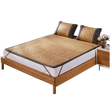 Ropa de Cama de Verano Colchones de colchón Fresco de 1,8 m Colchón de Aire Acondicionado Plegable de 3 Piezas de 1,5 m 3 Piezas (Tamaño : 150 * 200cm): ...