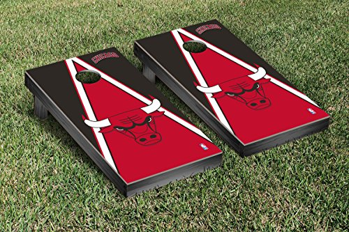 Chicago Bulls NBA Basketball Cornhole Game Set Triangle Version by Victory Tailgate