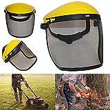 ERTIANANG Safety Helmet Hat with Full Face Mesh Visor for Logging Brushcutter Forestry Protection Mesh Safety Helmet Mower Helmet