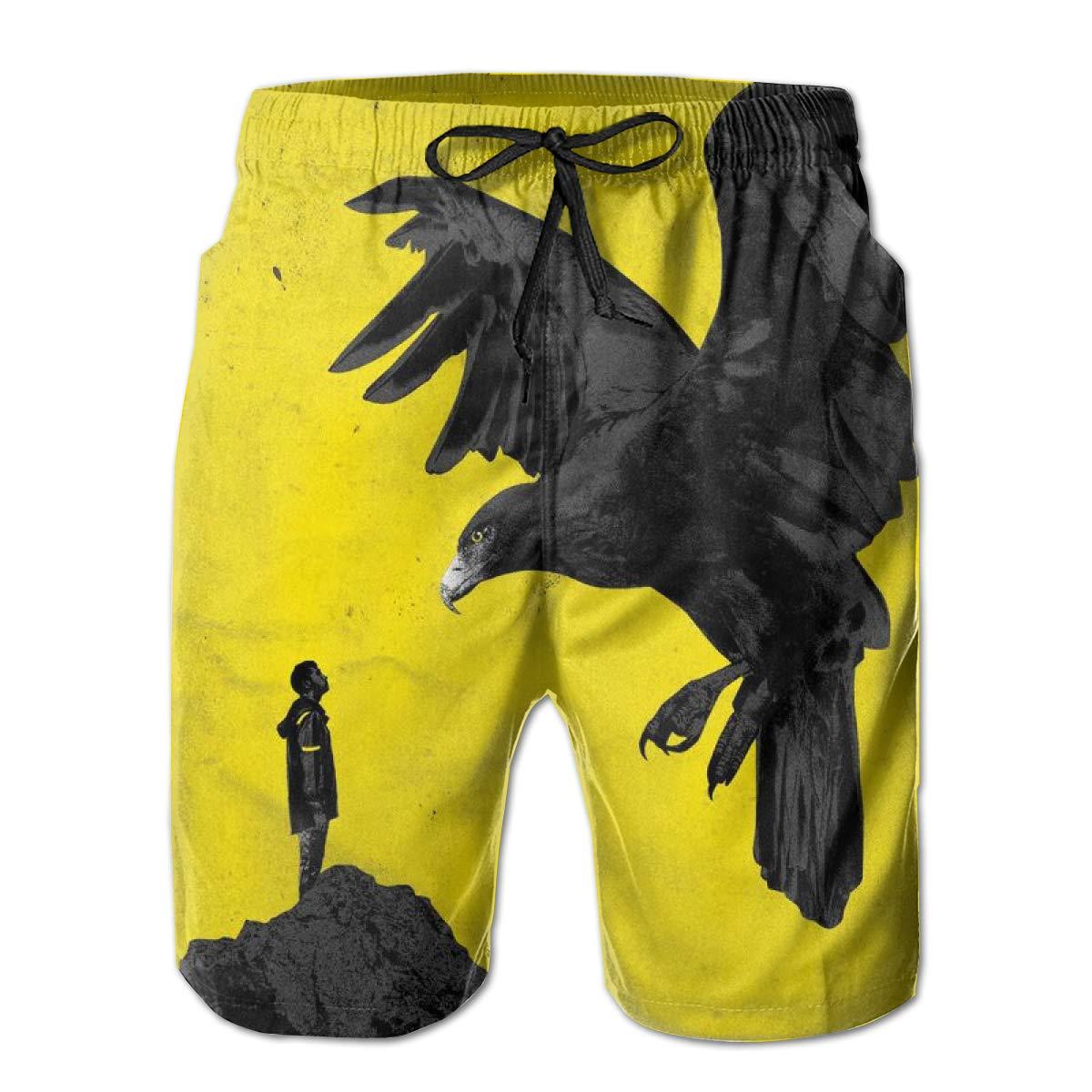 KINGQUEEN 21 Eagle Mens Board Beach Shorts Quick Dry Swimwear Pants Boardshort Swim Trunks Bathing Suits Sportwear Drawstring Surfing