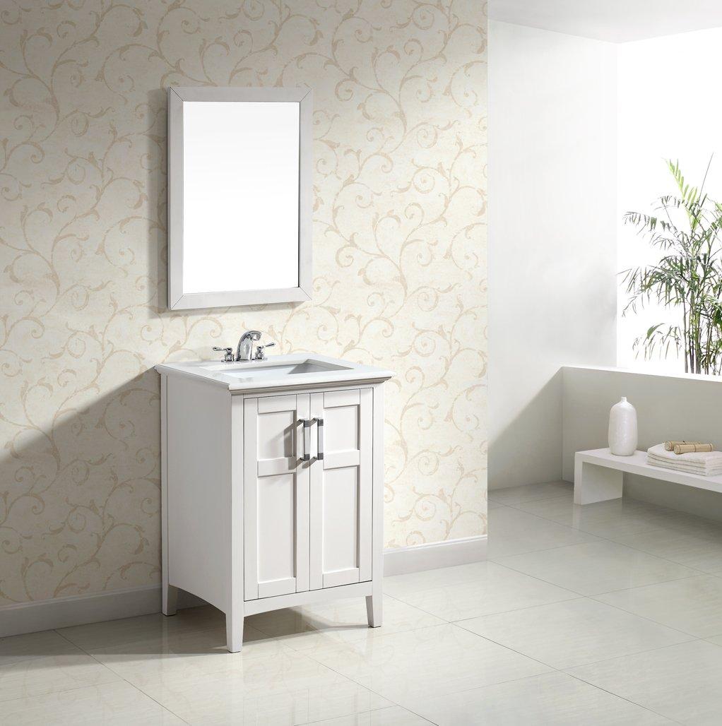 24 White Bathroom Vanity. Simpli Home Winston 24 Bath Vanity With Quartz Marble Top White Vanity Sinks Amazon Com