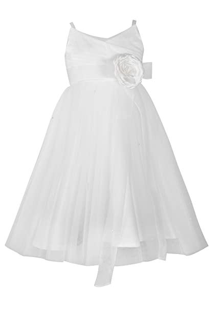 5924f8e69ff princhar Tulle Flower Girl Dress Junior Bridesmaids Dress Little Girl  Toddler Dress US 6M Ivory