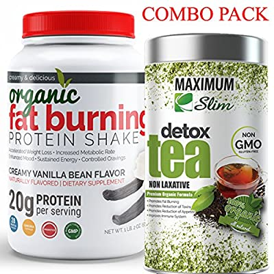 FIT IN THOSE JEANS AGAIN with Fat Burning Protein & Detox Tea Kit. BURN FAT and DETOX your body NATURALLY