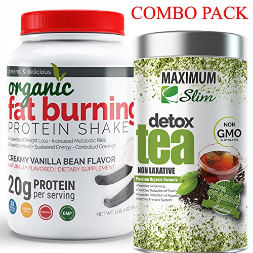 (FIT IN THOSE JEANS AGAIN with Fat Burning Protein & Detox Tea Kit. BURN FAT and DETOX your body NATURALLY)