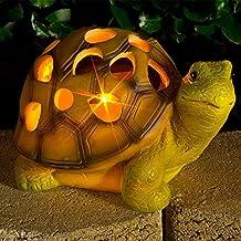Luz solar de jardín con forma de tortuga